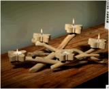 蝶蝋燭の棒の木のクラフトによっては柔らかい用品類デザインが家へ帰る