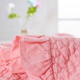 Baumwolle gewaschene gesteppte Bettdecke, Bett verbreitete Größengleichbett-Steppdecke