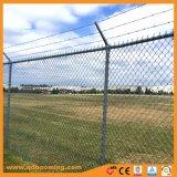 電流を通されたチェーン・リンクの防御フェンス