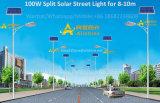Indicatore luminoso di via solare separato spaccatura poco costosa di 20W 30W 40W 50W 60W 80W 100W 120W LED