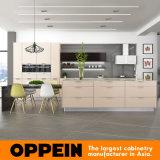 Oppeinの熱い販売の柔らかいベージュメラミン木の食器棚(OP16-M03)