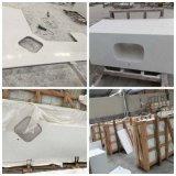 Vanità bianca di marmo artificiale della stanza da bagno di Carrara