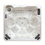 Square Acrylic 6 personnes Bubble / Back Massage Whirlpool Outdoor SPA