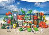 Kaiqi großes im Freien Plastikspielplatz-Gerät mit Segeln-Dach, verschiedene Plättchen, Bergsteiger