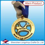 Il bronzo dell'argento dell'oro delle medaglie dei ricordi della medaglia del metallo di disegno di modo mette in mostra la medaglia