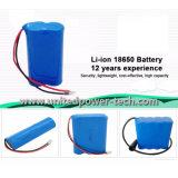 Bateria de lítio recarregável 18650 3.7V do Li-Polímero 2600mAh