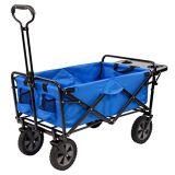 قابل للانهيار خارجيّ منفعة عربة مع [فولدينغ تبل] وشراب حامل, زرقاء