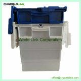 90L logístico personalizado moviendo la caja de almacenamiento de plástico con tapa bandeja