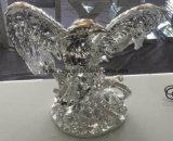 Decoración Polyresin en oro y plata El Águila de resina manualidades, Regalos Christamas