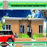 Fácil montar casas à prova de fogo modernas do Prefab da construção de aço do baixo custo