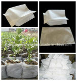 機械非編まれたファブリック実生植物袋Zx-350を作る袋