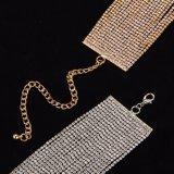 Многократная цепь наслаивает ожерелье чокеровщика Rhinestone кристаллический для женщин