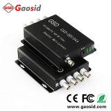 4 Channel HD Ahd/tvi/CVI 720p/960p/1080P multiplexeur vidéo coaxial IP CCTV