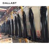 Único cilindro ativo do petróleo hidráulico da grua do caminhão de descarga de Rod de pistão telescópico