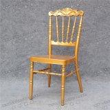 Стулы случая королевского золота Наполеон венчания заднего люнета кроны типа алюминиевые с фикчированной подушкой сиденья (YC-AS83)