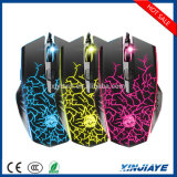 6 6 Colors Breathing LEDのボタン2400のDpi Adjustable Optical USB Wired Gaming Mouse