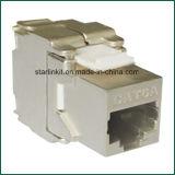 CAT6A FTP Shielded Tooless Keystone Jack 180 Grau
