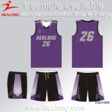 Healong a personnalisé le basket-ball réversible Jersey d'impression de sublimation de vêtements de sport