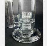 Conduite d'eau en verre pour la double réutilisation de filtre d'emboîtement de canons