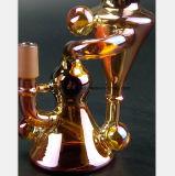 Un tubo di fumo di vetro di colore rosso di vino del tubo di acqua da 7.87 pollici