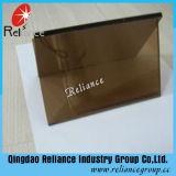 Verre réfléchissant en bronze de bronze de 6 mm / Verre cristallin brun / verre de fenêtre avec ISO
