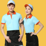 Fast Food Restaurant garçon uniforme, serveuse Polo uniforme