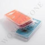 iPhoneのための携帯電話カバー倍カラー流砂液体TPUの箱