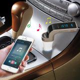 La carga de coche USB Tarjeta TF MP3 manos libres Bluetooth el transmisor de FM Cargador de coche