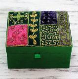 Caja de la colección de la joyería de la ropa del bordado