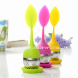 Populaire pour la promotion Leaf Silicone Tea Infuser / Stainless Steel and Silicone Material Infusateur de thé