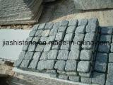 Polidos/Flamed/Sandblast/Acabamento Bushhammered Mongólia mosaico em granito preto/Pedra de Pavimentação