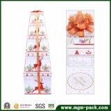 Boîte-cadeau bon marché faite sur commande de Noël de papier cartonné de vente chaude