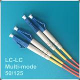 Lc-LC Koord van het Flard van Multi-Mode Vezel van PC Om2 het Optische