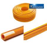 Tubo flessibile ad alta pressione dell'acqua della pistola a spruzzo della treccia della fibra di doppio strato del PVC