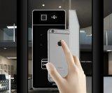 Innovent le blocage en verre Qr-Zw06s-Per d'hôtel de bureau de porte d'empreinte digitale en alliage de zinc de Qr en verre Tempered de nouveaux produits
