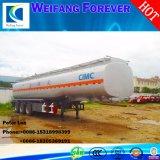 3つの車軸アルミ合金オイルまたは燃料またはガソリンオイルタンクまたはタンク車のトレーラー