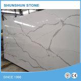 Pedra Artificial White Calacatta Quartz Slab for Countertop