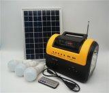 China uso doméstico portátil pequeno sistema de energia solar com rádio MP3