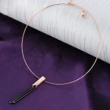 El nuevo oro del item plateó el conjunto de la joyería de la manera del collar del ahogador