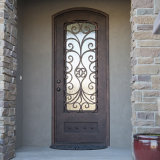 Exterior Decorative Metal Iron entry Door with Glass