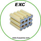 電池1s6p 18650李イオン電池のパック3.7V 12000mAh