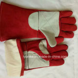 Коровы Split кожаные перчатки для рук с двойной рабочей