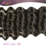 Nenhuma da venda por atacado profunda cheia da onda da cutícula do cheiro mau parte brasileira do cabelo