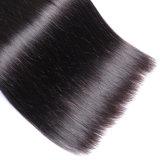 Естественный черный Silk прямо уток человеческих волос Peruvian 100%
