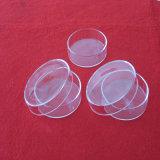 実験室の研究のためのふたが付いている明確な水晶ガラスの円形の皿