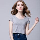 Le design de mode 100% coton O-cou à manches courtes aucune marque n'logo personnalisé de l'impression plaine vierge T-Shirt Short