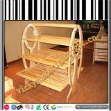 Шкаф хлеба твердой древесины 3 ярусов с акриловой крышкой и светом СИД
