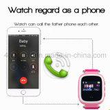 歩数計Y7sが付いている多彩なスクリーンの子供か子供携帯用GPSの追跡者の腕時計