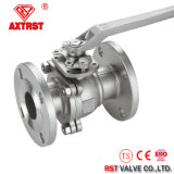 API de acero inoxidable flotante 2PC Flange Ball Valve