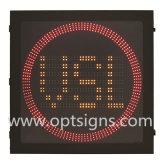 Signe de vitesses limites inscrit par signe de vitesse de radar de circulation d'Optraffic DEL